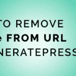 Remove more From URL In GenerarePress Premium